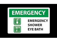 Safety Message Floor Mat - Emergency Shower Eye Bath