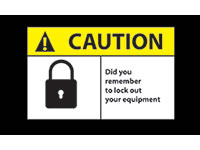 Safety Message Mat - Caution Lockout Equipment NT-194SCL