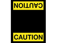Safety Message Floor Mat - Caution