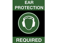 Safety Message Floor Mat - Ear Protection Required