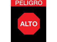 Safety Message Floor Mat - Peligro Alto