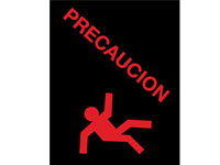 Safety Message Floor Mat - Precaucion