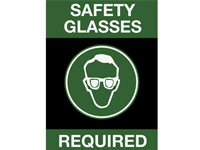 Safety Message Floor Mat - Safety Glasses Required