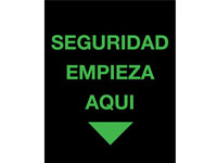 Safety Message Floor Mat - Seguridad Empieza Aqui