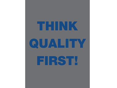 Safety Message Floor Mat - Think Quality First