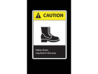 Safety Message Mat - Caution Safety Shoes Required NT-194SCS