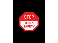 Safety Message Floor Mat - Stop Think Safety