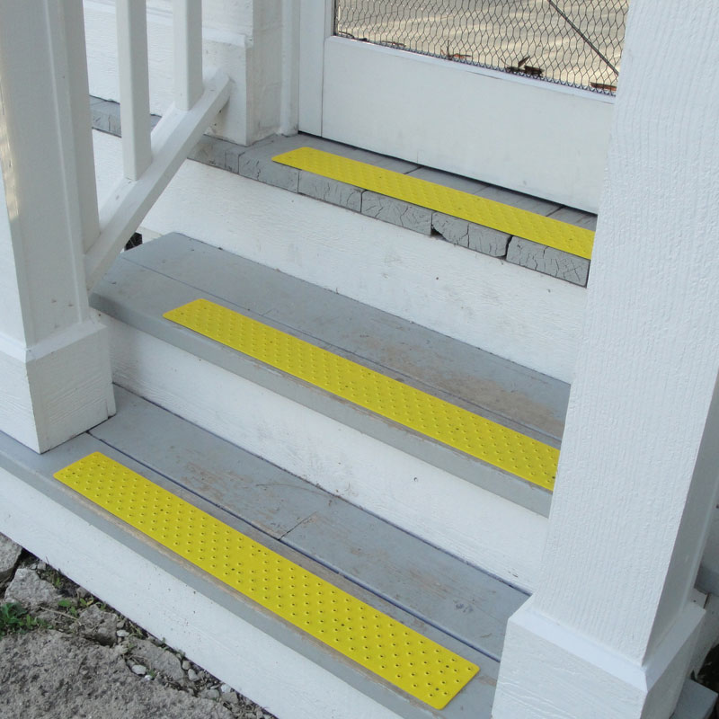 handiramp nonskid stair tread powder coated safety yellow