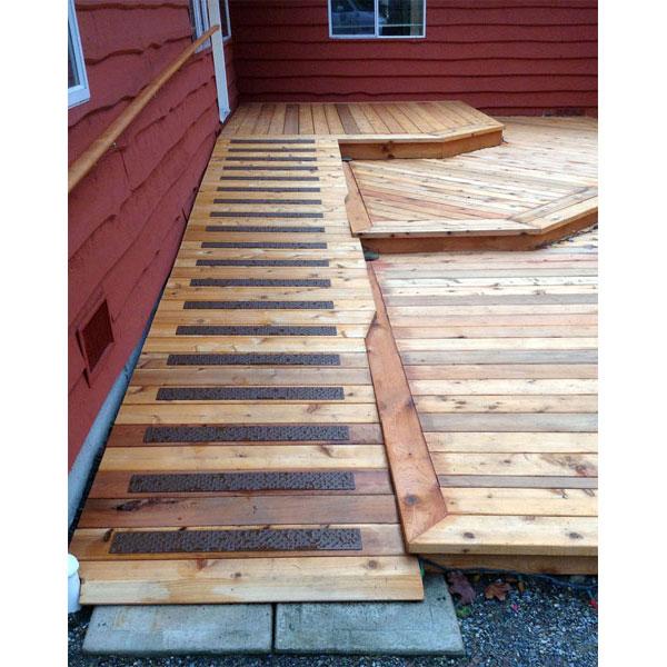 Handiramp Non Skid Stair Tread Powder Coated Brown