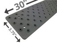 HandiRamp Non-Skid Stair Tread - Powder Coated Black HP-NST-191