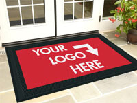 Great Clean Step Scraper Logo Mat