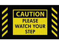 Caution Watch Your Step Safety Message Mat