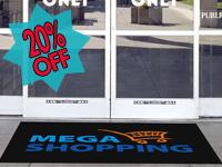 Clean Step Impressions Scraper Logo Mat GM-CSL