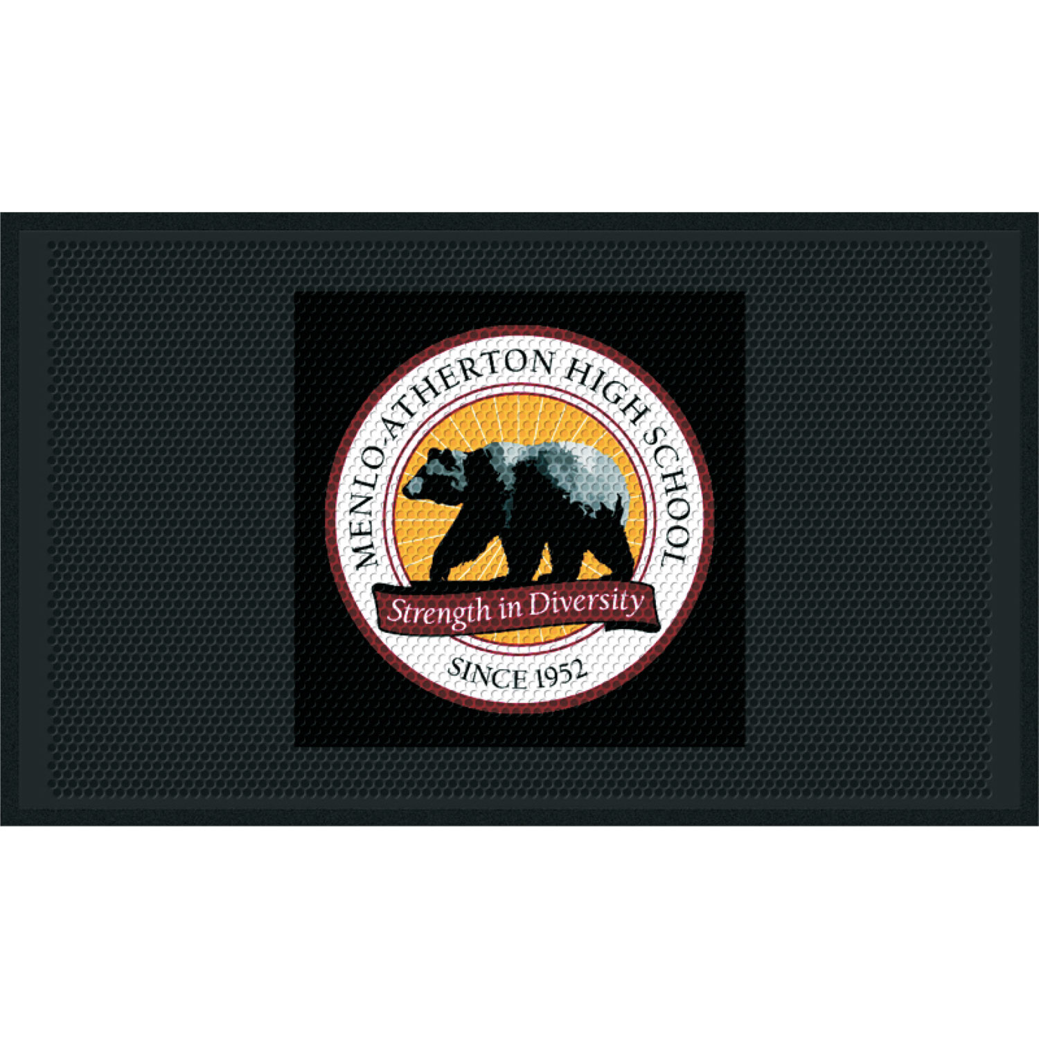 Clean Step Impressions Custom School Logo Mat