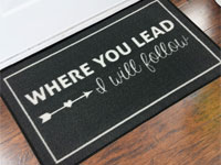 Where You Lead I Will Follow Welcome Door Mat - 2' x 3' GM-19013417