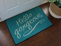 Hello Gorgeous Welcome Mat - Tiffany