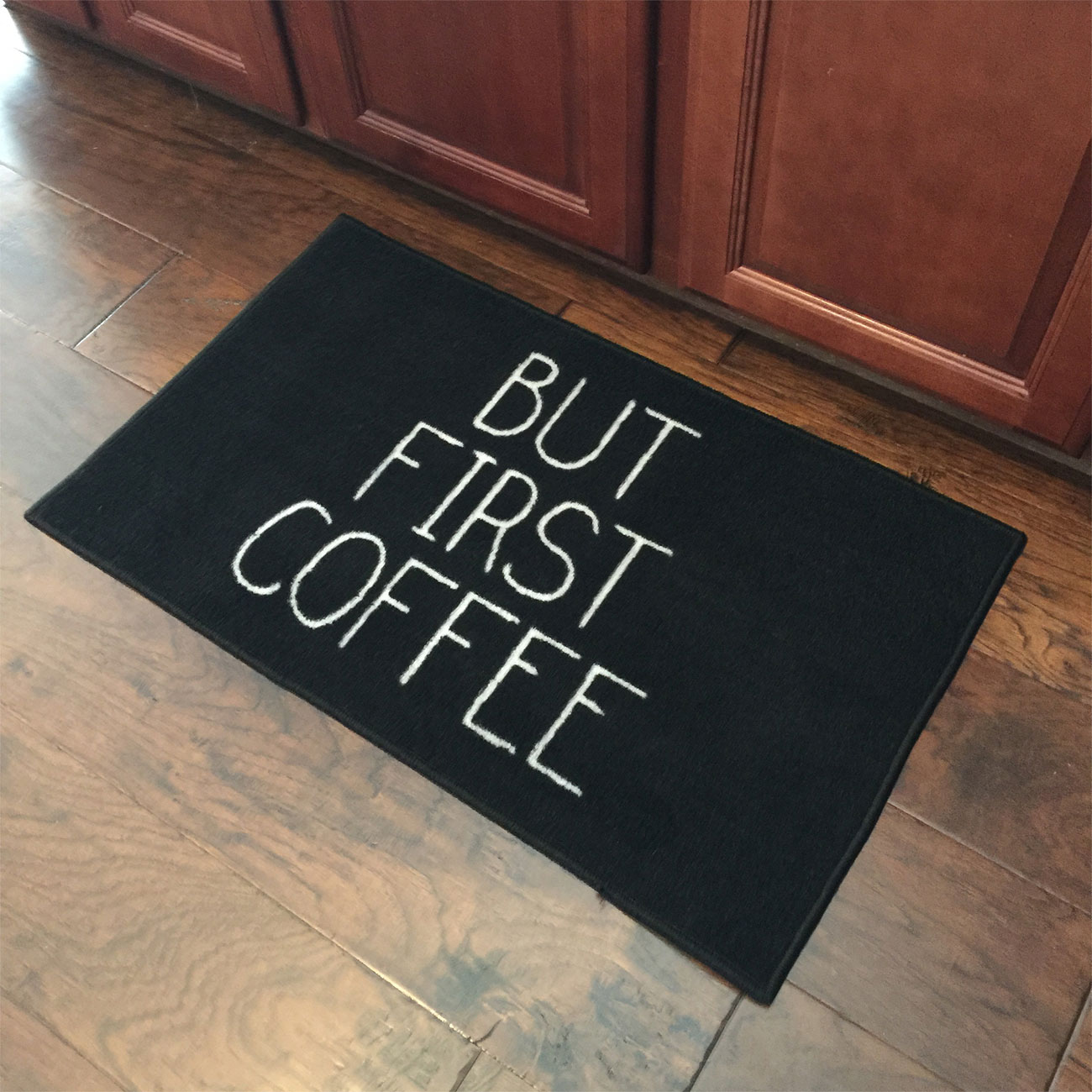 But First Coffee Welcome Door Mat - 2' x 3'