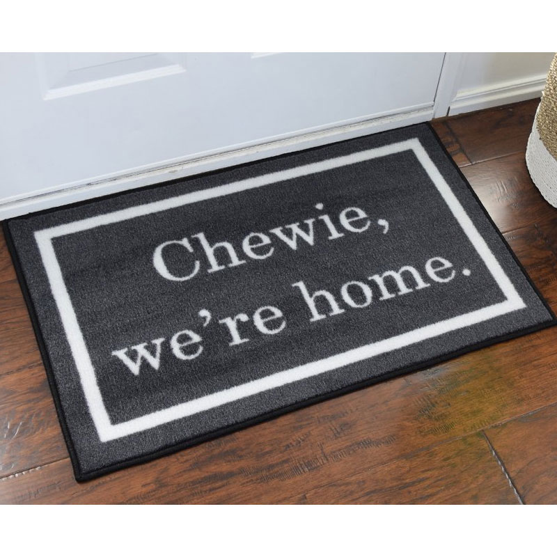 Chewie We\u0027re Home Welcome Door Mat - 2\u0027 x 3\u0027  sc 1 st  FloorMatShop.com : mat door - pezcame.com