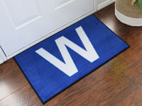 Chicago Cubs Win Flag Welcome Door Mat