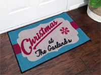 Family Christmas Welcome Mat