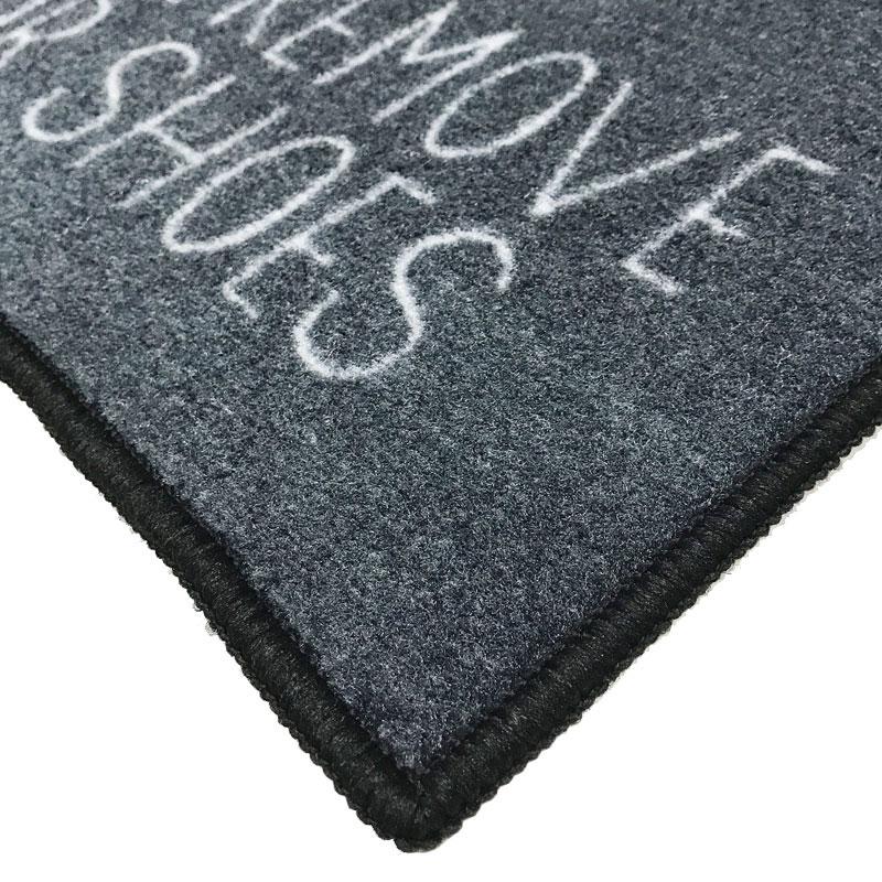 Please Remove Your Shoes Message Doormat Grey
