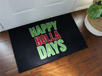 Happy Holla Days Personalized Door Mat