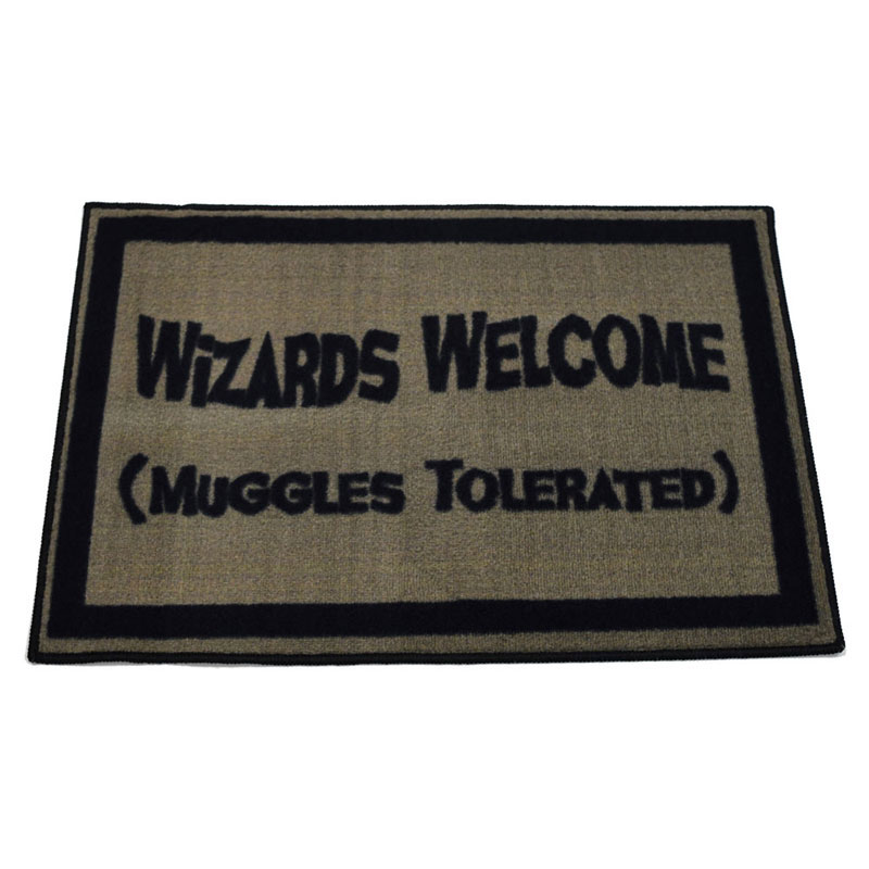 Wizards Welcome Muggles Tolerated Door Mat - 2' x 3'