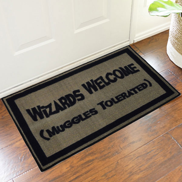 2' x 3 ' Harry Potter Wizards Welcome Muggles Tolerated Doormat