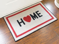 Home w/ Heart Welcome Door Mat - 2' x 3' GM-19001041