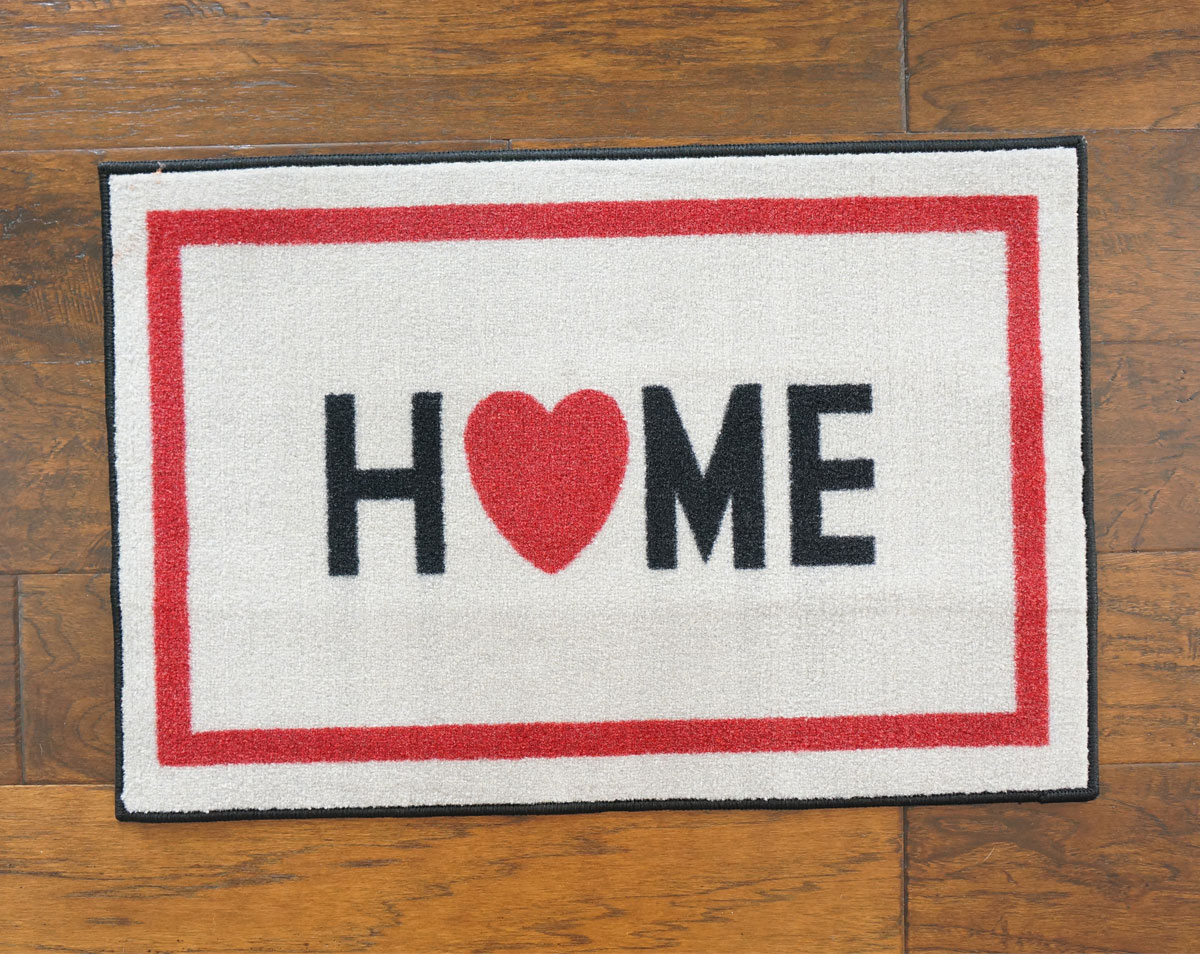 Home w/ Heart Welcome Door Mat - 2' x 3'
