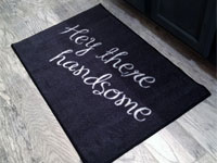 Hello There Handsome Welcome Mat