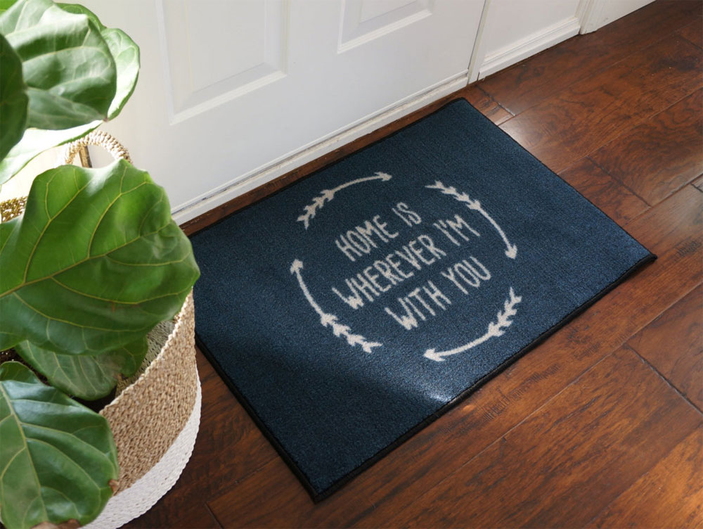 Home Is Wherever I'm With You Welcome Door Mat - 2' x 3'