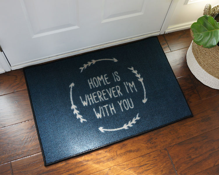 Home Is Wherever I'm With You Welcome Door Mat