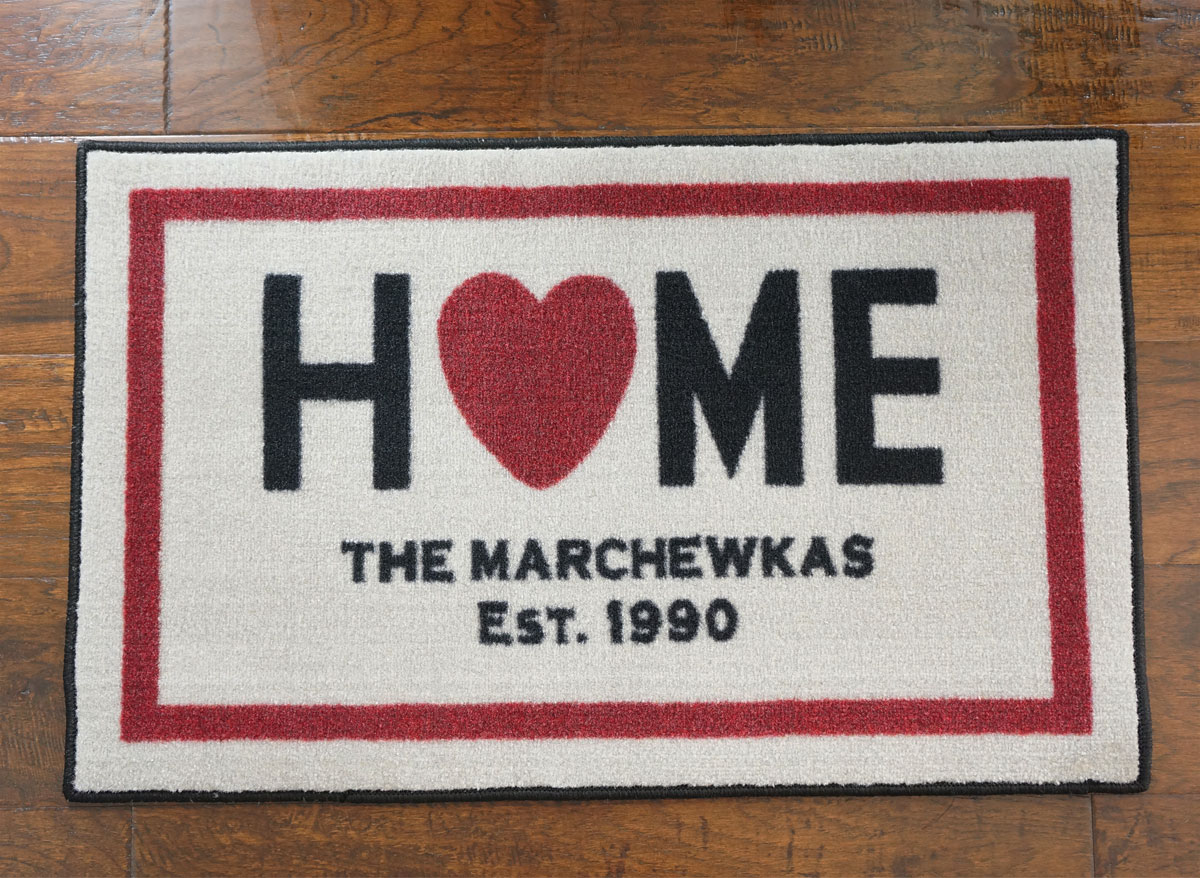 "Custom Home Door Mat - 22"" x 32"""
