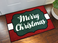 Merry Christmas Welcome Door Mat