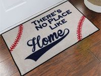 Baseball There's No Place Like Home Door Mat - 2' x 3' GM-19015992