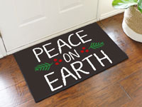 Peace on Earth Welcome Doormat