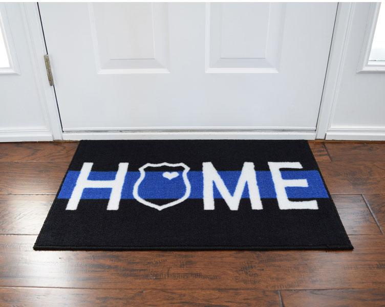 ... Police Support Welcome Home Door Mat   2u0026lsquo; ...