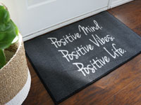 Positive Mind Vibes Life Inspirational Door Mat
