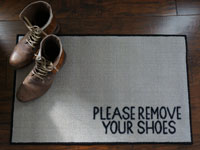 2' x 3' Please Remove Your Shoes Door Mat