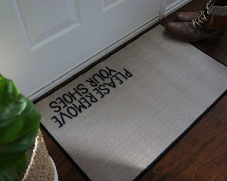 Please Remove Your Shoes Door Mat - Beige - 2' x 3'