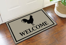 Welcome Rooster Door Mat