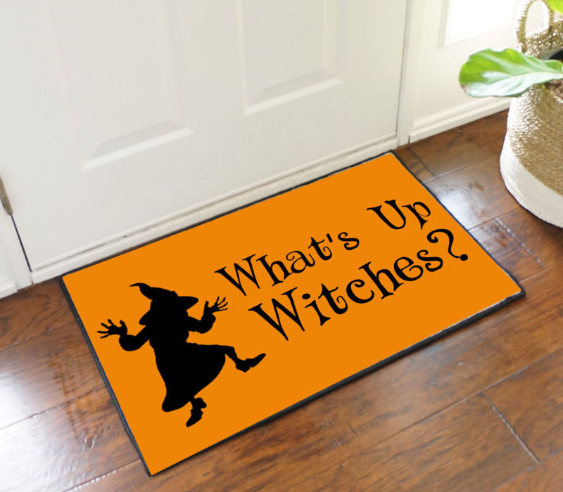 What's Up Witches Halloween Decorative Mat