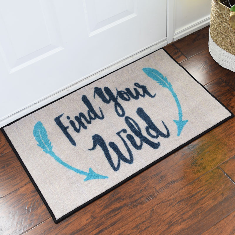 Find Your Wild Inspirational Welcome Door Mat - 2' x 3'
