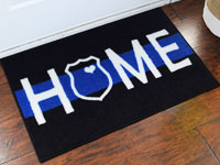 Police Support Welcome Home Door Mat