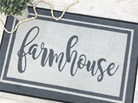 Farmhouse Welcome Doormat - Grey & White - 2' x 3' GM-19021028
