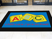 School Custom Logo Mats