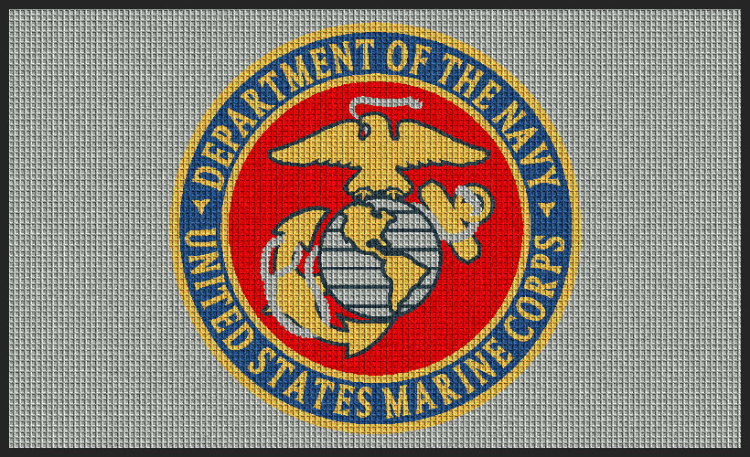 Waterhog Inlay Custom Military Logo Entrance Mat