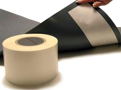 "Crown #296 Tack-Tape™ Floor Mat Double-Sided Backing Tape - 4"" x 250'"