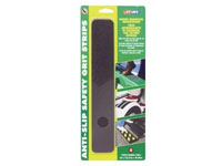 "Life-Safe® [RE624BL] Anti-Slip Safety Grit Strip - Black - (6) 2"" x 12"" Strips"